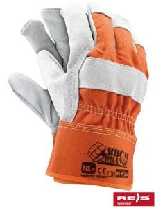 Rękawice skórzane RBCMORANGE